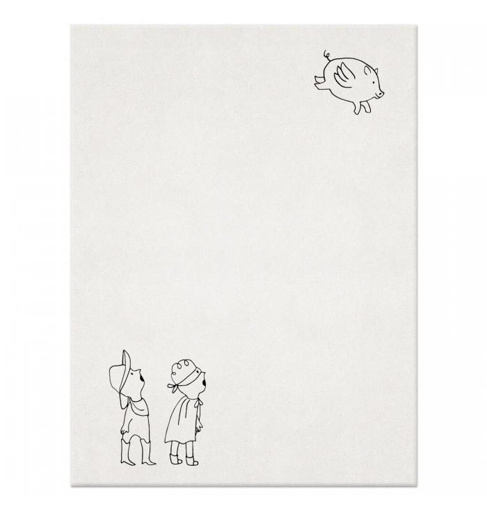 Wool Rug - Look! A Flying Pig!