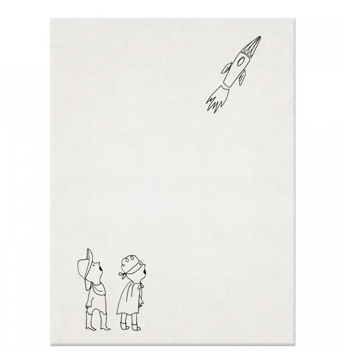 Wool Rug - Look! A Rocket!