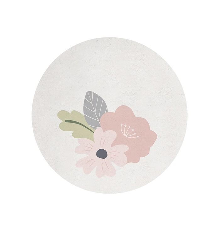 Tappeto tondo - Fiori