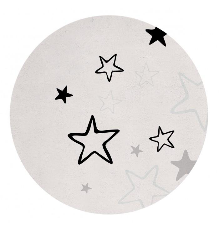 Round Rug - Blue Stars