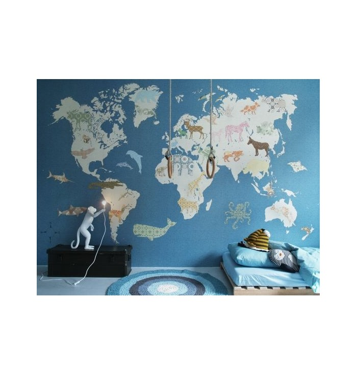 World map wallpaper - Inke